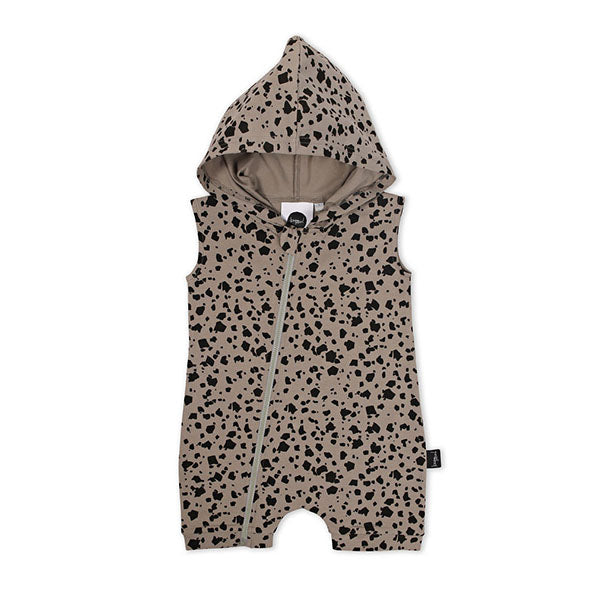 Kapow Kids Terrazzo Hooded Zip Romper - Little Gents Store