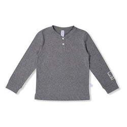 Littlehorn Henley Tee Charcoal - Little Gents Store