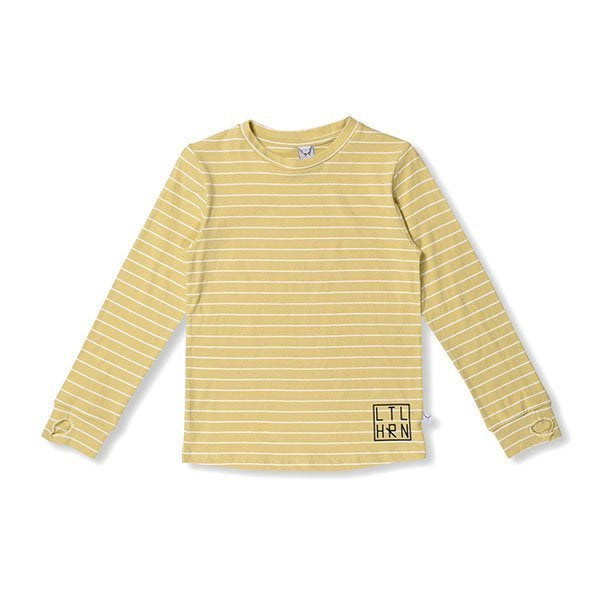 Littlehorn Striped Thumbhole Tee - Little Gents Store