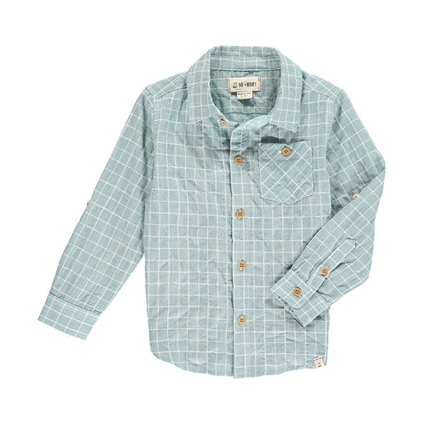 Me & Henry Green Grid Woven Shirt