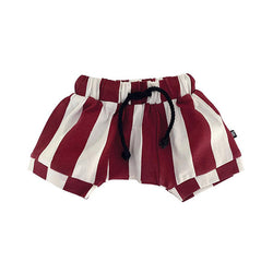 Milk Addict Baggy Stripe Shorts - Rust