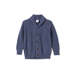 Milky Clothing Cable Knit (Denim Marle)
