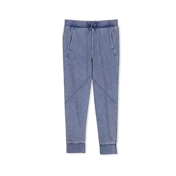 Milky Clothing Blue Garment Dyed Track Pant - Little Gents Store