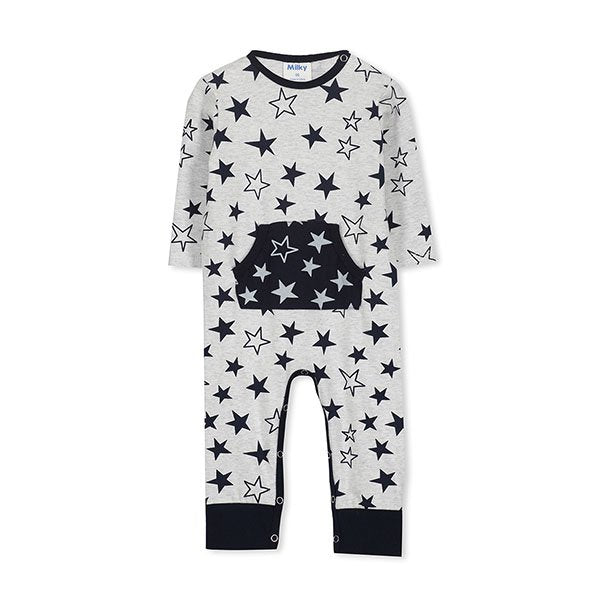 Milky Clothing Stars Romper - Little Gents Store