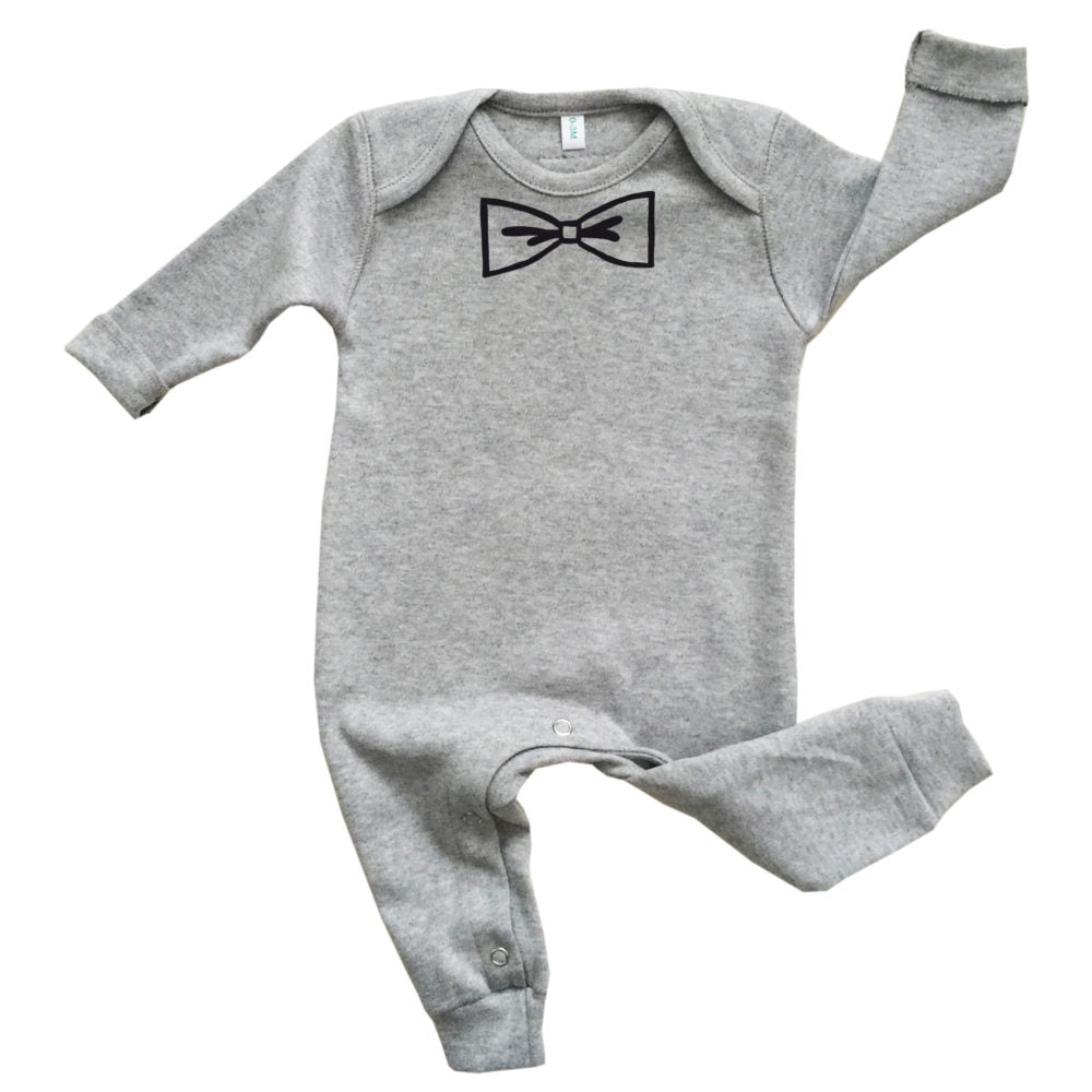 Organic Zoo Grey BOW Playsuit - Little Gents Store