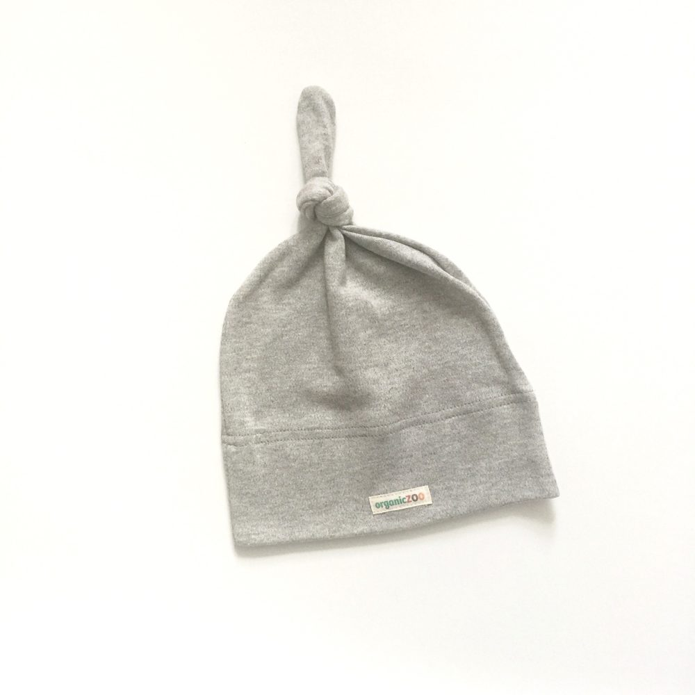 Organic Zoo Grey knotted hat - Little Gents Store
