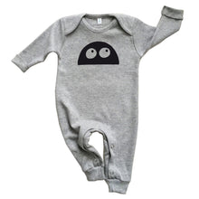 Organic Zoo Grey MONSTER Playsuit - Little Gents Store