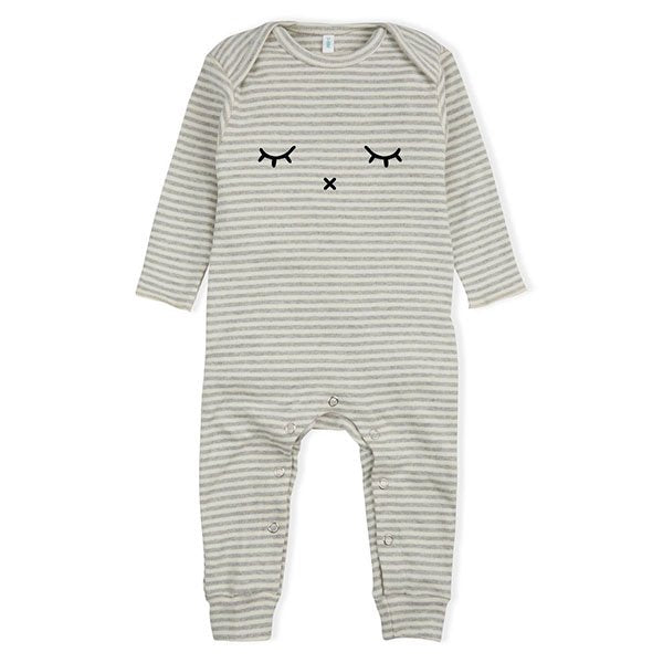 Organic Zoo Grey Stripes Sleepy - Little Gents Store
