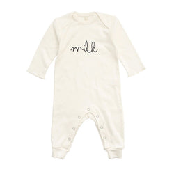 Organic Zoo Natural MILK Playsuit - Little Gents Store