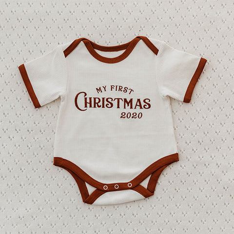 Piper Bug My First Christmas Romper