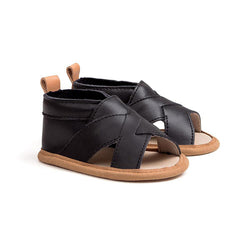 Pretty Brave Cross-Over Sandal Black - Little Gents Store