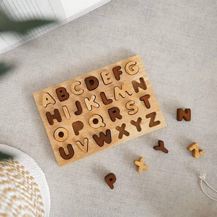 QToys Natural Capital Letter Puzzle