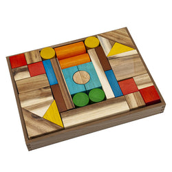 QToys Natural Wooden Blocks