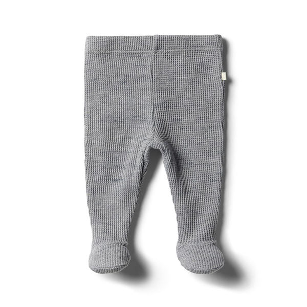 Wilson & Frenchy Cloud Grey Waffle Footed Legging