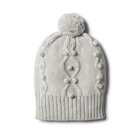 Wilson and Frenchy Cloud Grey Knitted Beanie