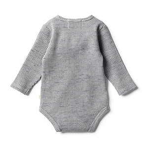 Wilson & Frenchy Cloud Grey Waffle Bodysuit back
