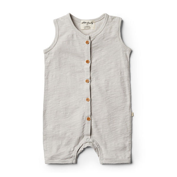 Wilson & Frenchy Glacier Grey Growsuit - Little Gents Store