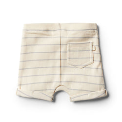 Wilson & Frenchy Glacier Grey stripe Short - Little Gents Store