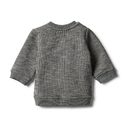 Wilson & Frenchy Grey Speckle WILD Sweat Top
