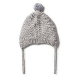 Wilson and Frenchy Knitted Cable Bonnet back