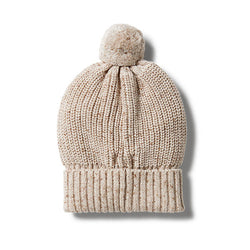Wilson and Frenchy Oatmeal Knitted Beanie back