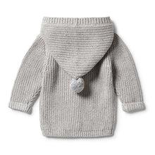 Wilson & Frenchy Grey Knitted Jacket back