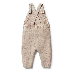 Wilson and Frenchy Oatmeal Knitted Overall back