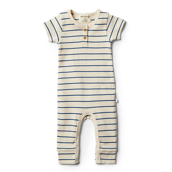 Wilson & Frenchy Deep Blue Stripe Growsuit - Little Gents Store