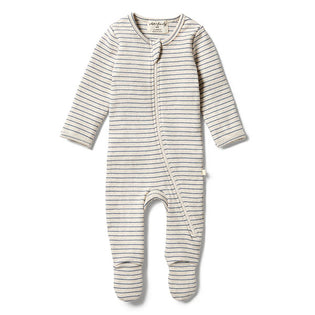Wilson & Frenchy Denim Rib Zipsuit