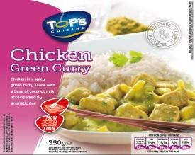 Top's Chicken Green Thai Riz 350g 6x5.30