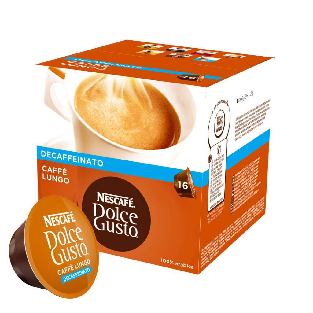 Dolce Gusto Lungo Decaf. 112g 3X6.90