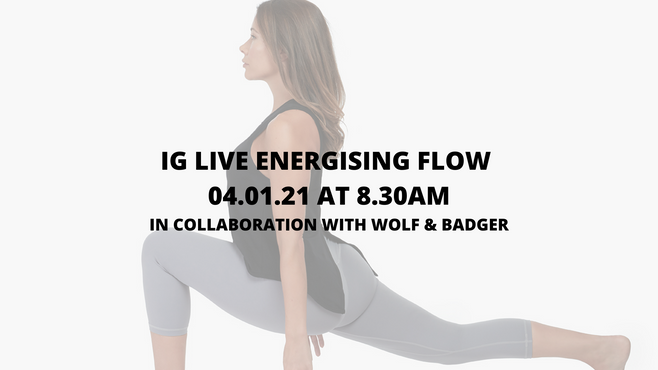 NEW YEAR ENERGISING 30MIN FLOW IN COLLABORATION WITH WOLF & BADGER