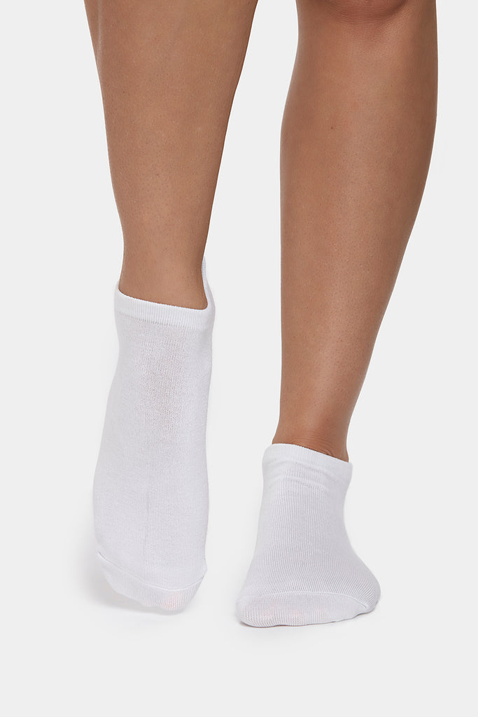 Get a Grip Bamboo Socks, White - PerkyPeach