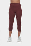 Move More Burgundy Capri Leggings