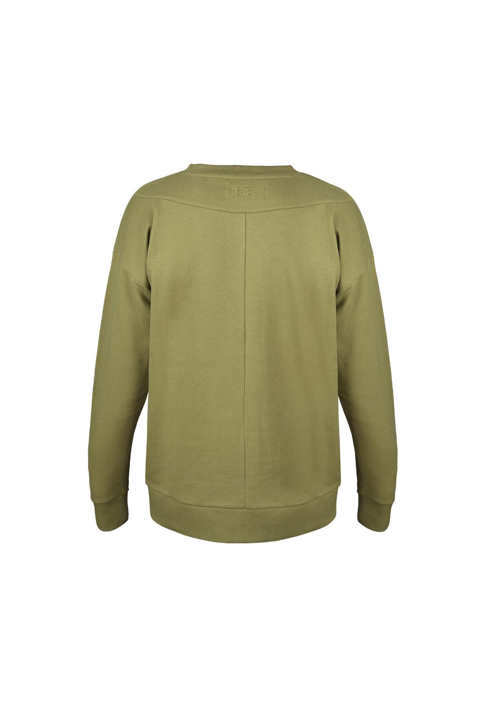 DROPPED SWEATER BURNT OLIVE