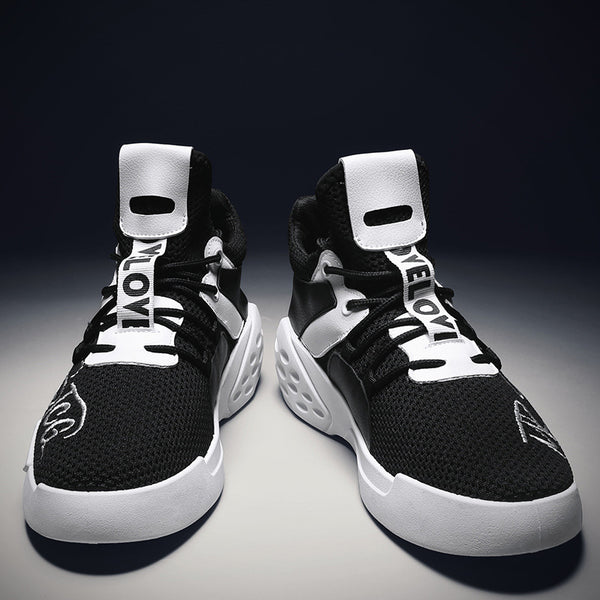 Breathable fly-woven men's shoes basketball shoes L-1908