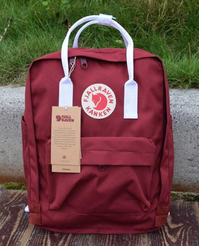 7/16/20 L Backpack School Bag Travel Ox Red / White