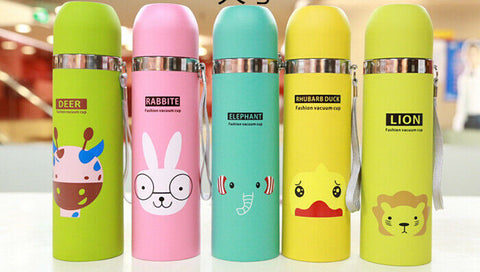 Animal Pattern Vacuum Thermos Cup