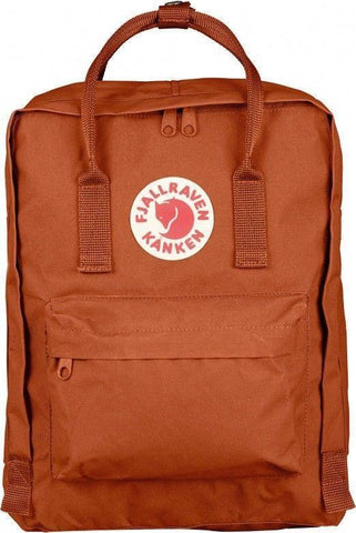 16L/Classic BackPack Brand School Bag Travel Brick Orange