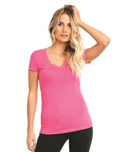 Next Level Ladies' Triblend Deep V