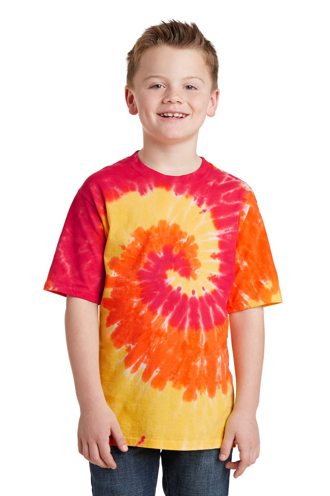 Port & Company Youth Tie Dye Tee (Blaze Rainbow)