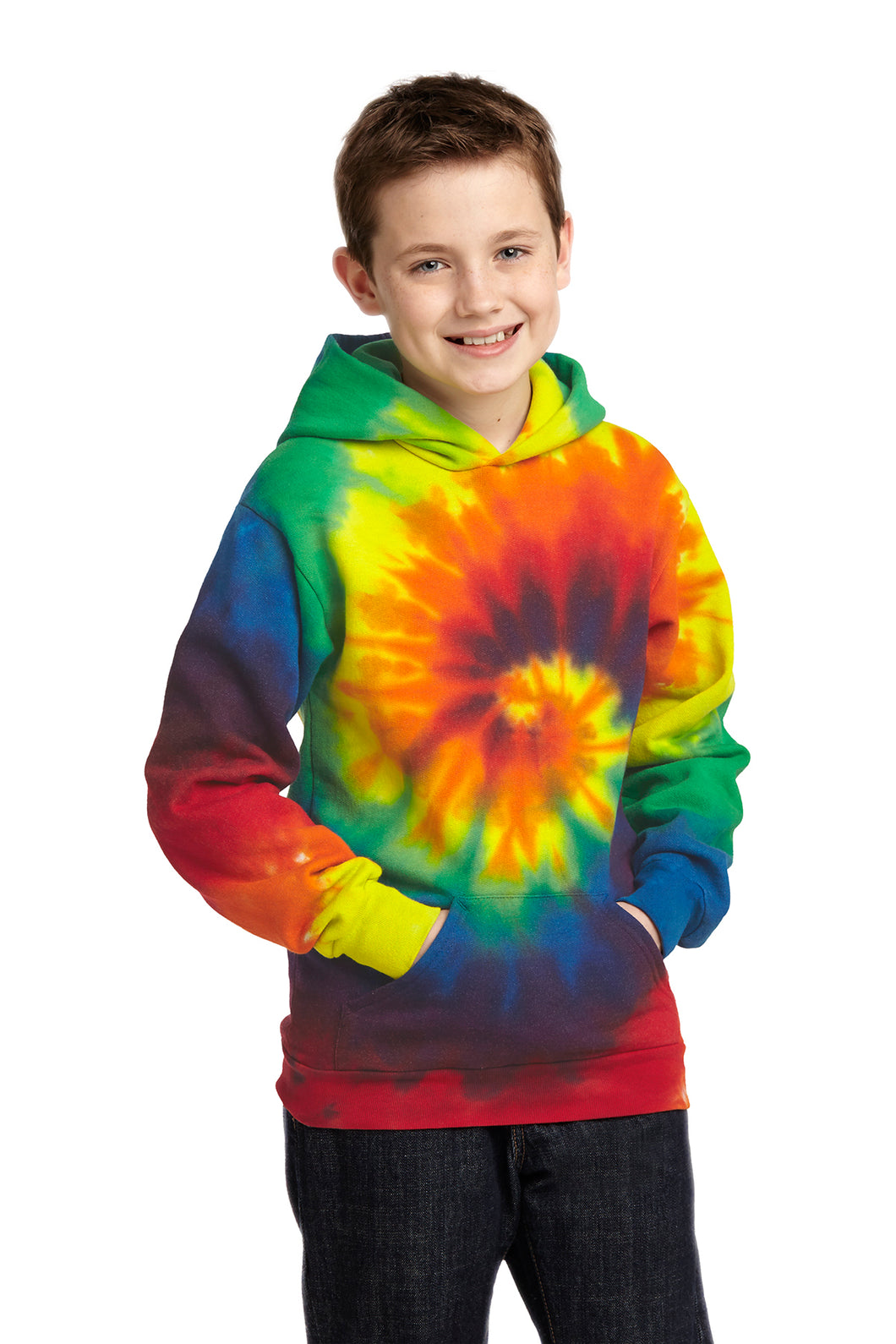Port & Company Youth Tie Dye Pullover Hooded Sweatshirt
