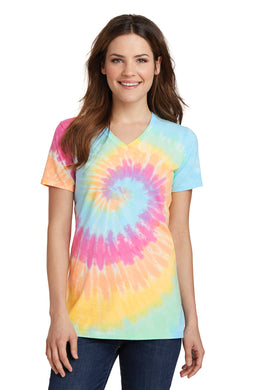 Port & Company Ladies' Tie Dye V-Neck Tee
