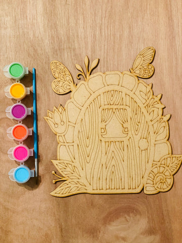 Paint your own fairy door!