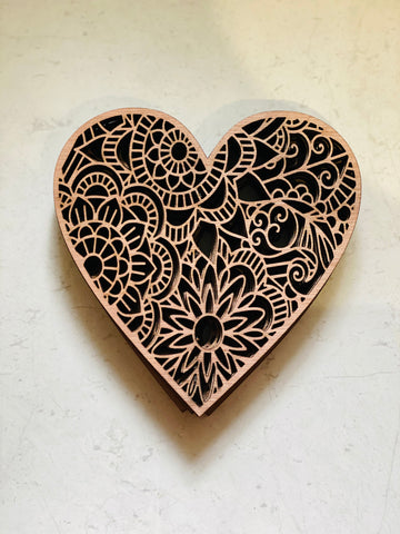Heart coaster set of 6