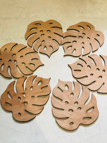 Monstera Coffee coaster set