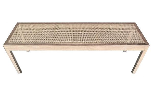 Davis Cane Bench - White Oak