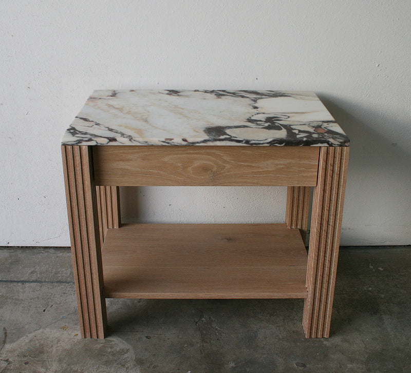 Crawford Nightstand- White Oak