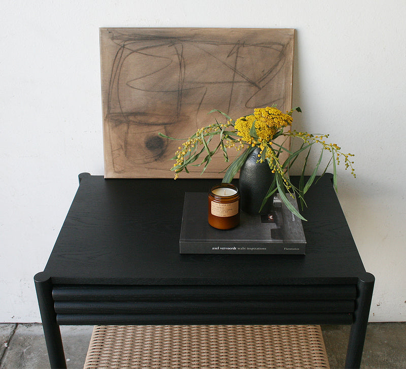 Parker Nightstand - Ebonized with Danish Cord