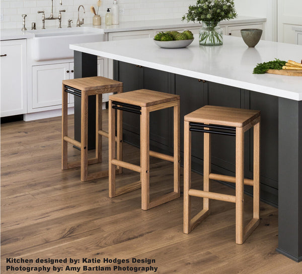 Wade Stool - White Oak